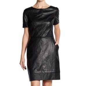 W118 by Walter Baker Black Faux Leather Dress